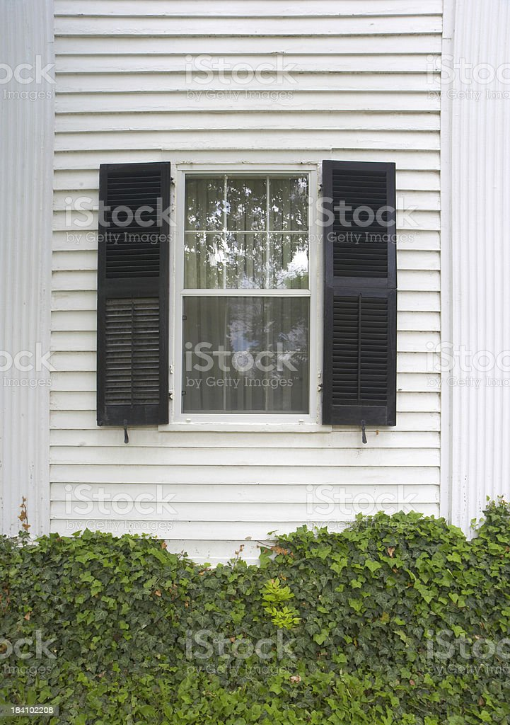 Black Shutters stock photo