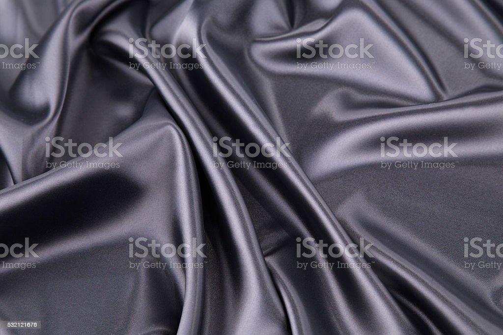 Black silk background. Texture. stock photo