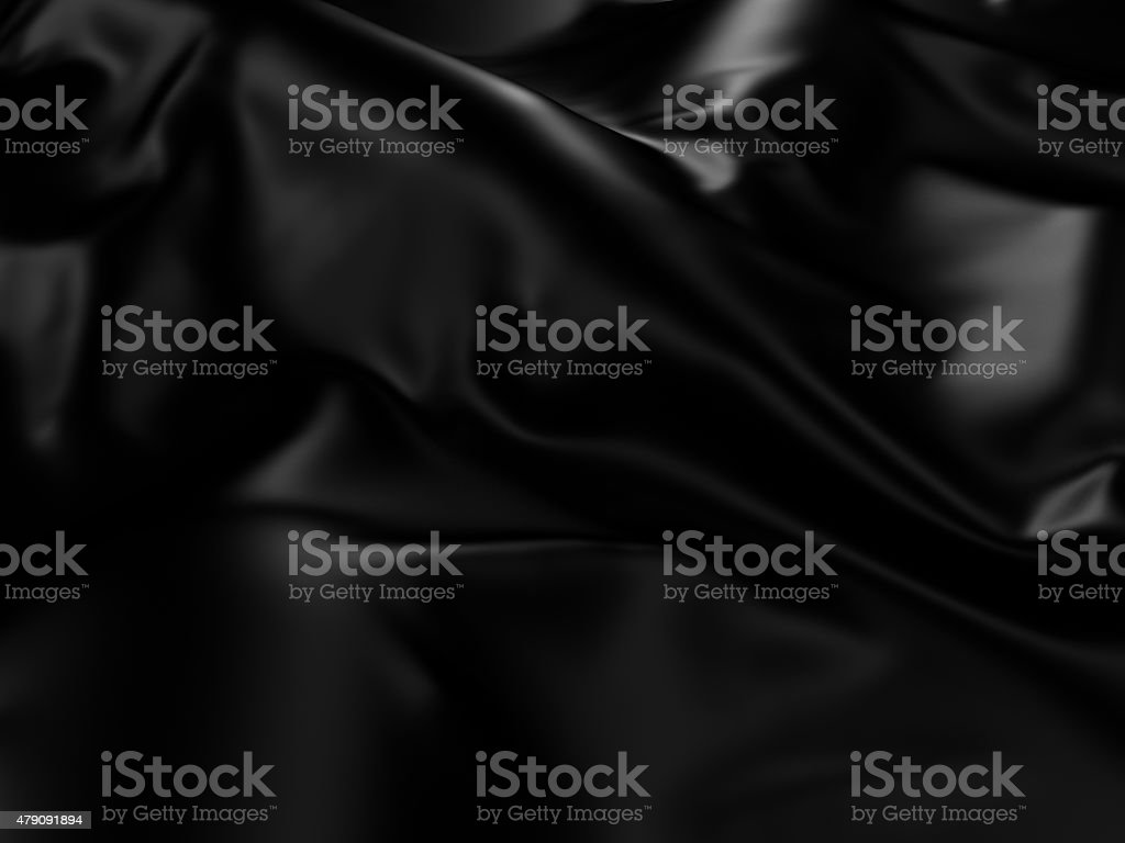Black Silk Cloth Abstract Background stock photo
