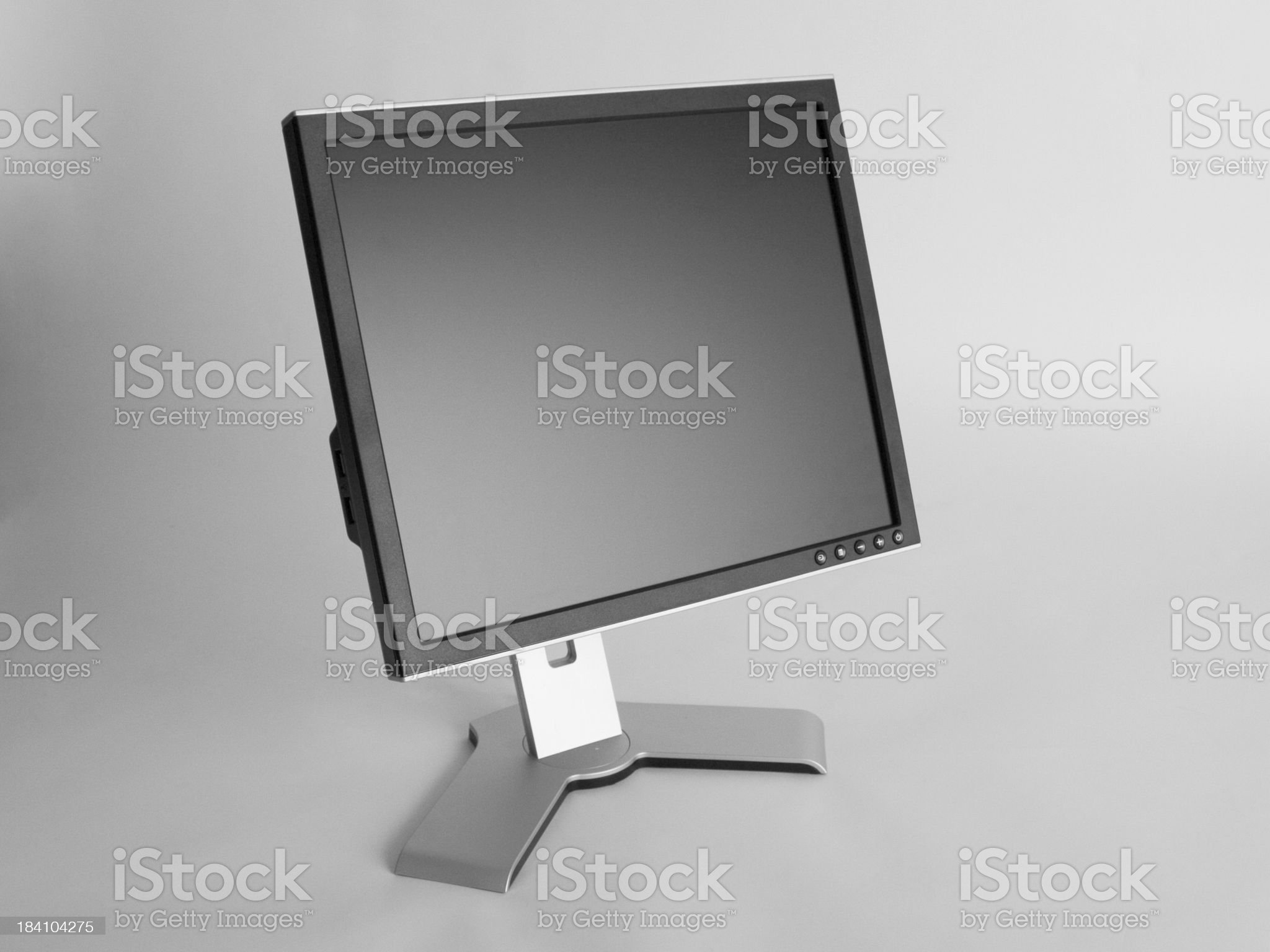 Black & Silver LCD Monitor with Modern Styling royalty-free stock photo