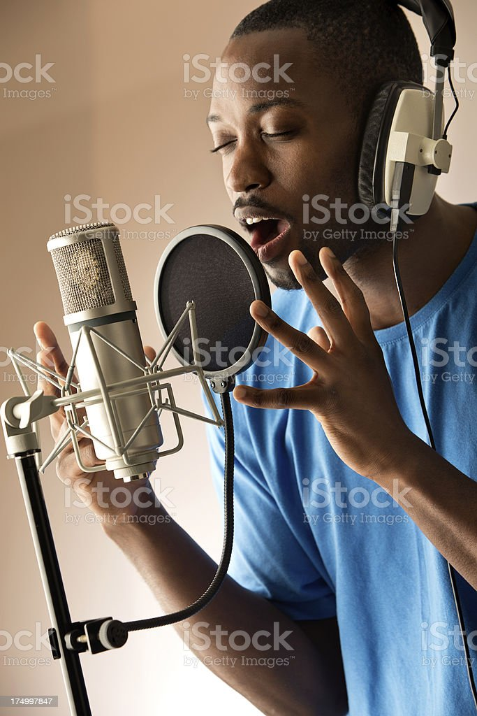 Black Singer stock photo