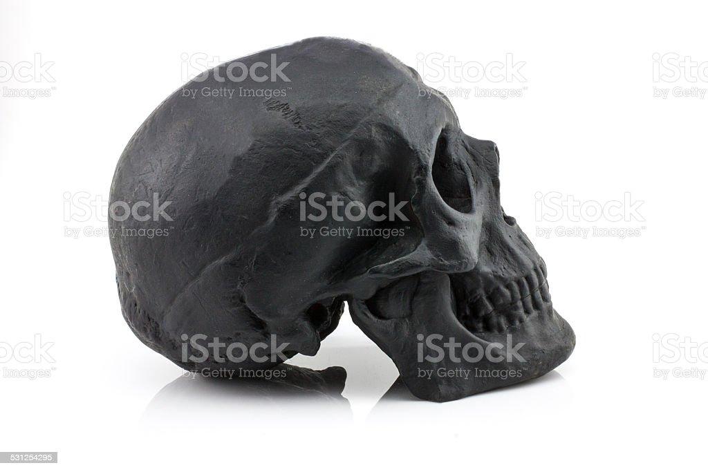 Black Skull Side stock photo