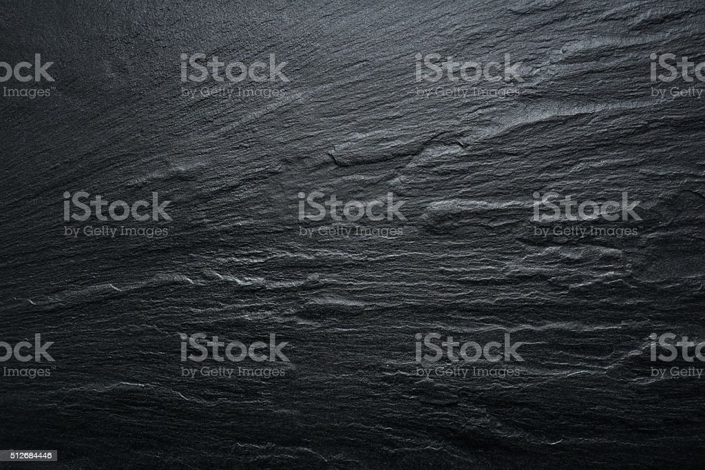 Black Slate Texture Background - Stone - Grunge Texture stock photo