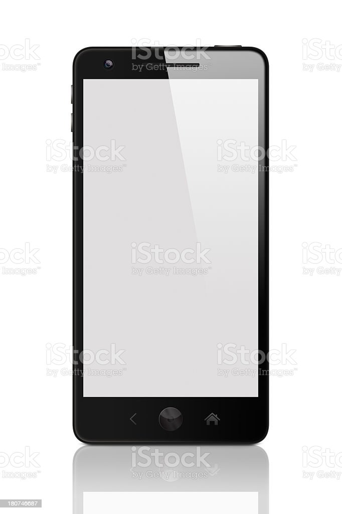 Black smart phone with clipping path royalty-free stock photo