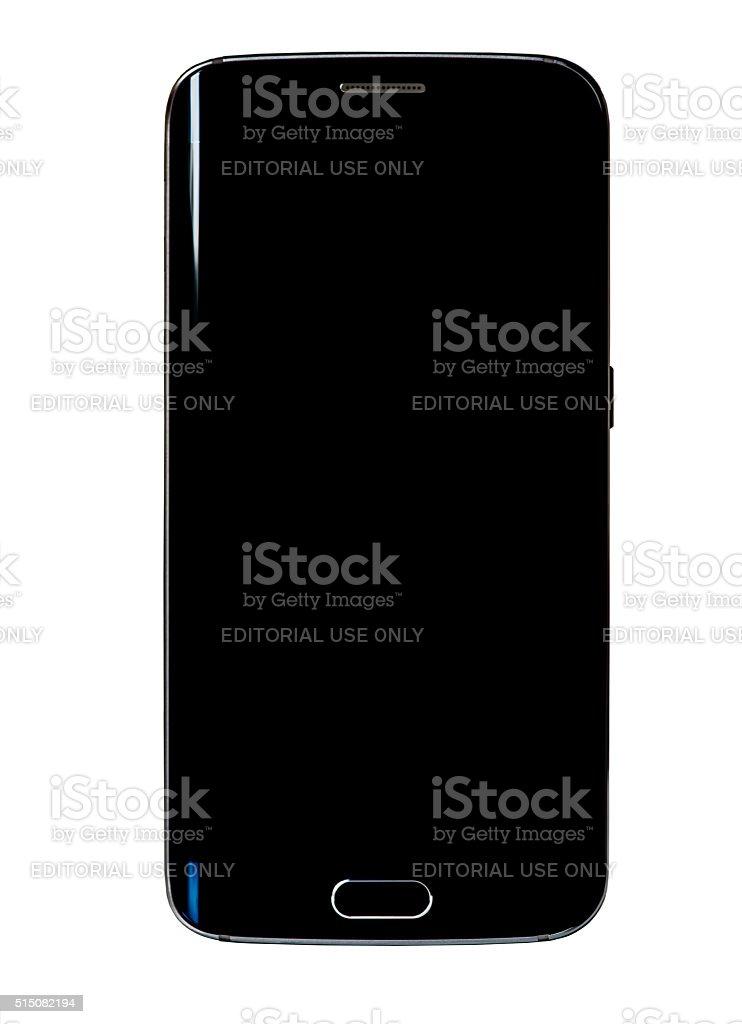 Black smartphone. stock photo