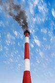 black smoke pollutes our environment