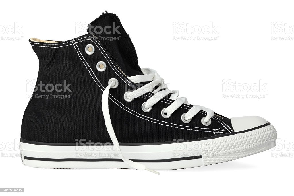 Black sneakers stock photo