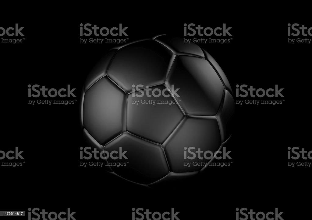 Black Fußball ball Lizenzfreies stock-foto