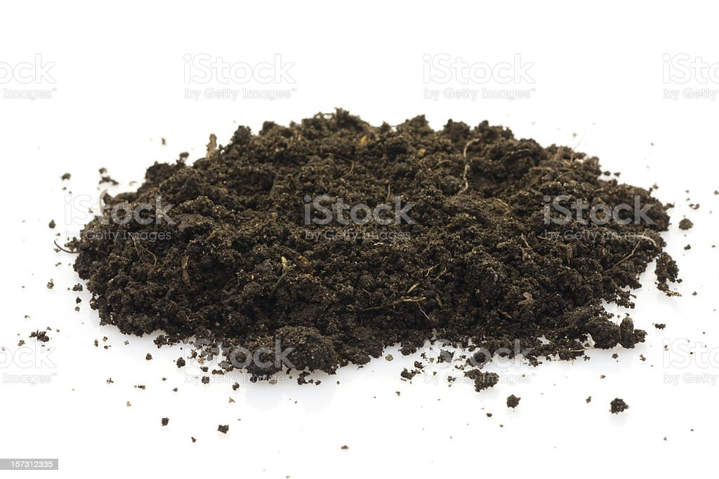 Black soil on white royalty-free stock photo