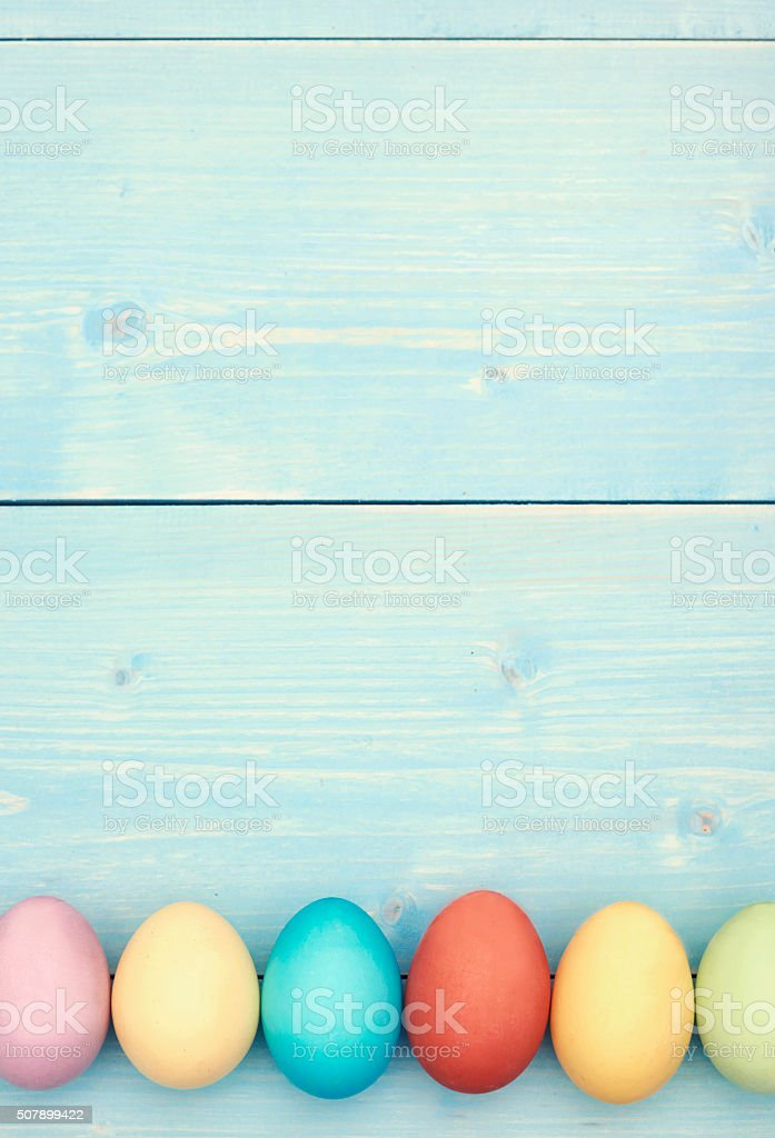 Black space above the easter eggs stock photo