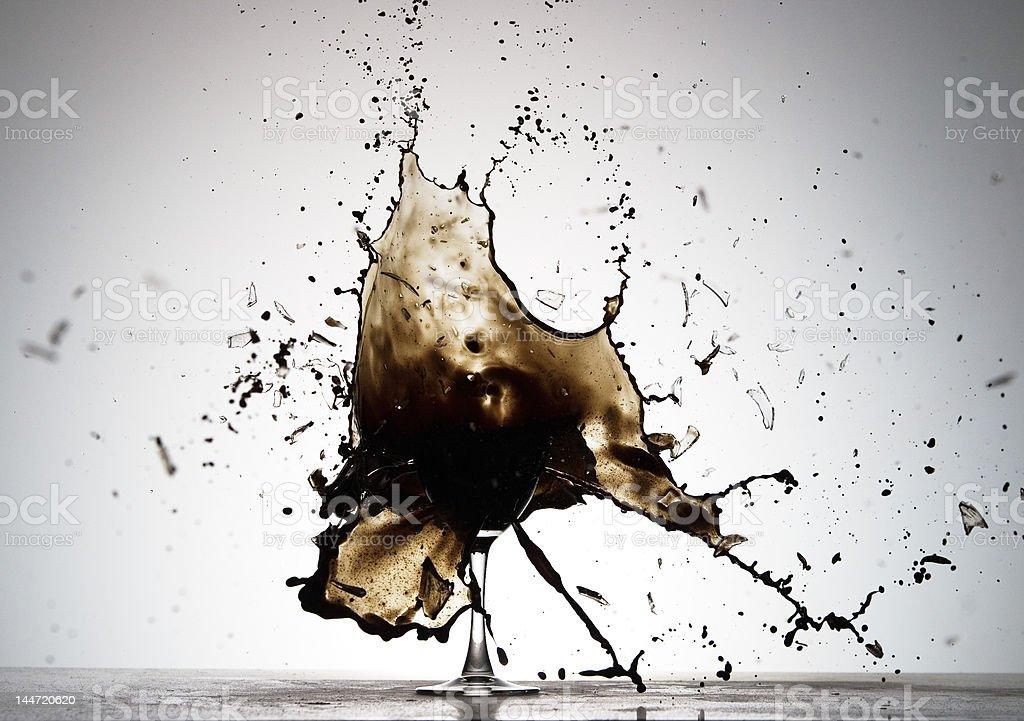 Black Spatter stock photo
