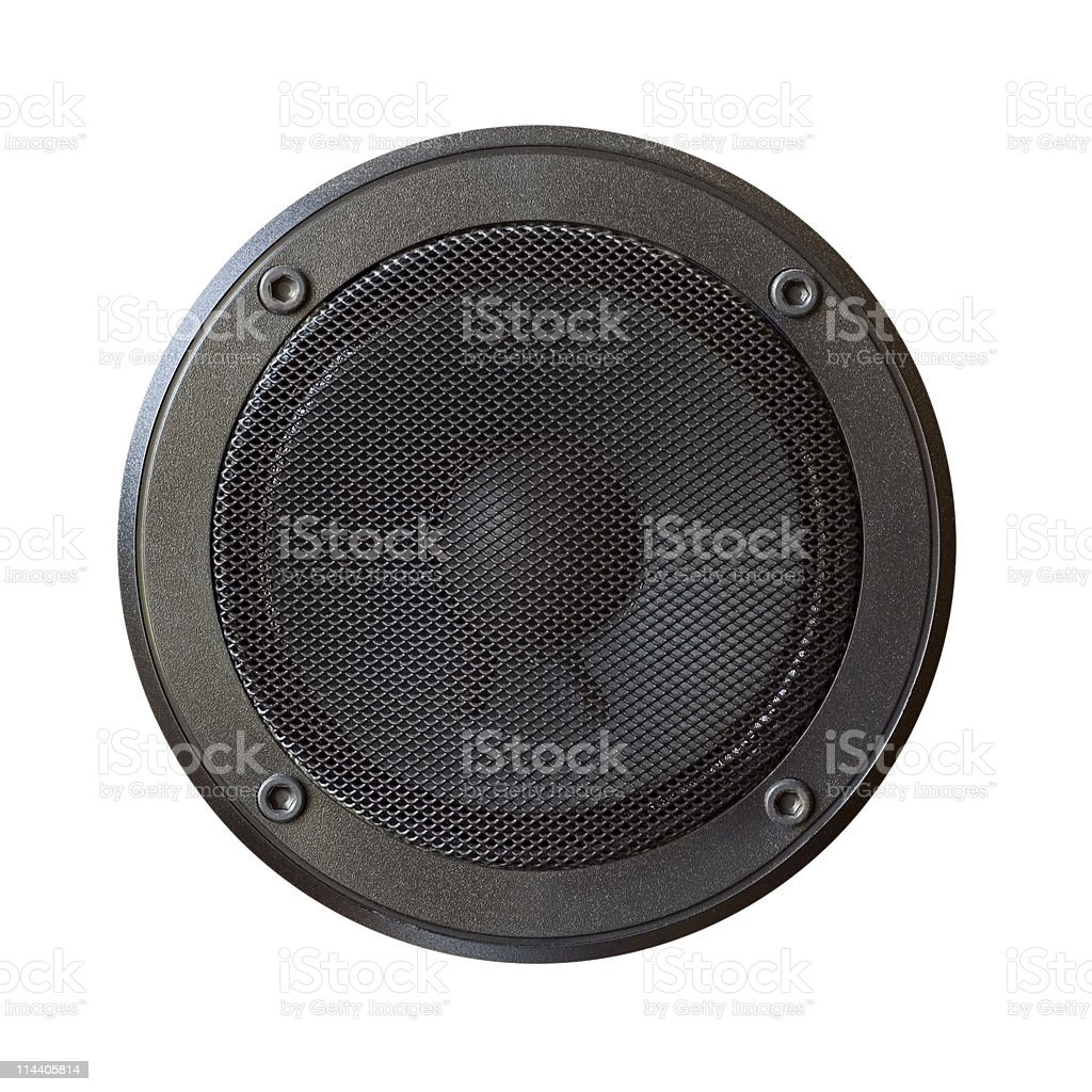Black Speaker isolated stock photo