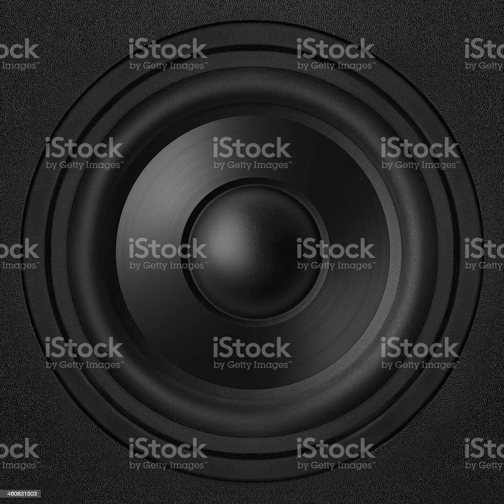 black speaker royalty-free stock photo