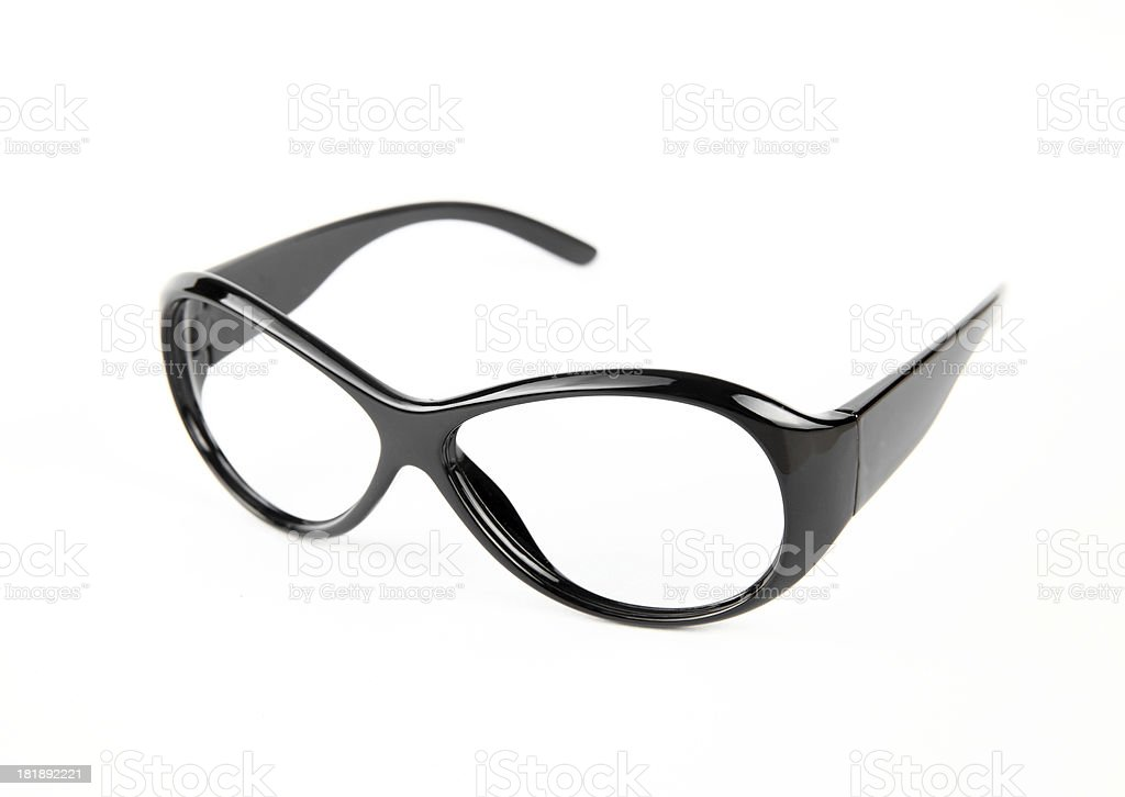 black spectacle frames royalty-free stock photo