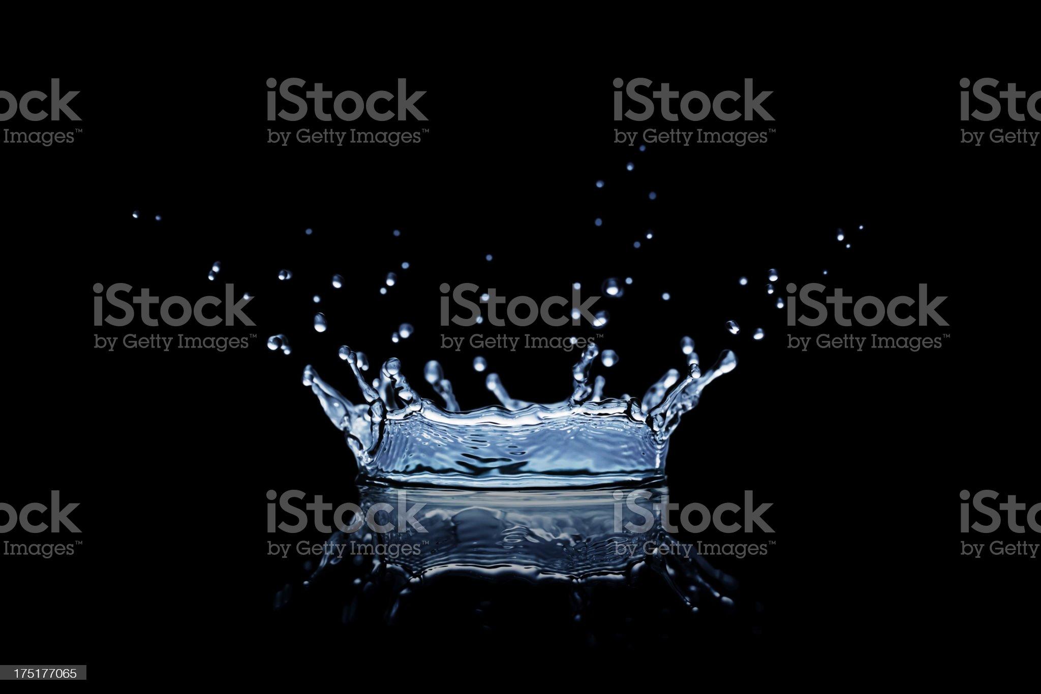 Black Splash royalty-free stock photo