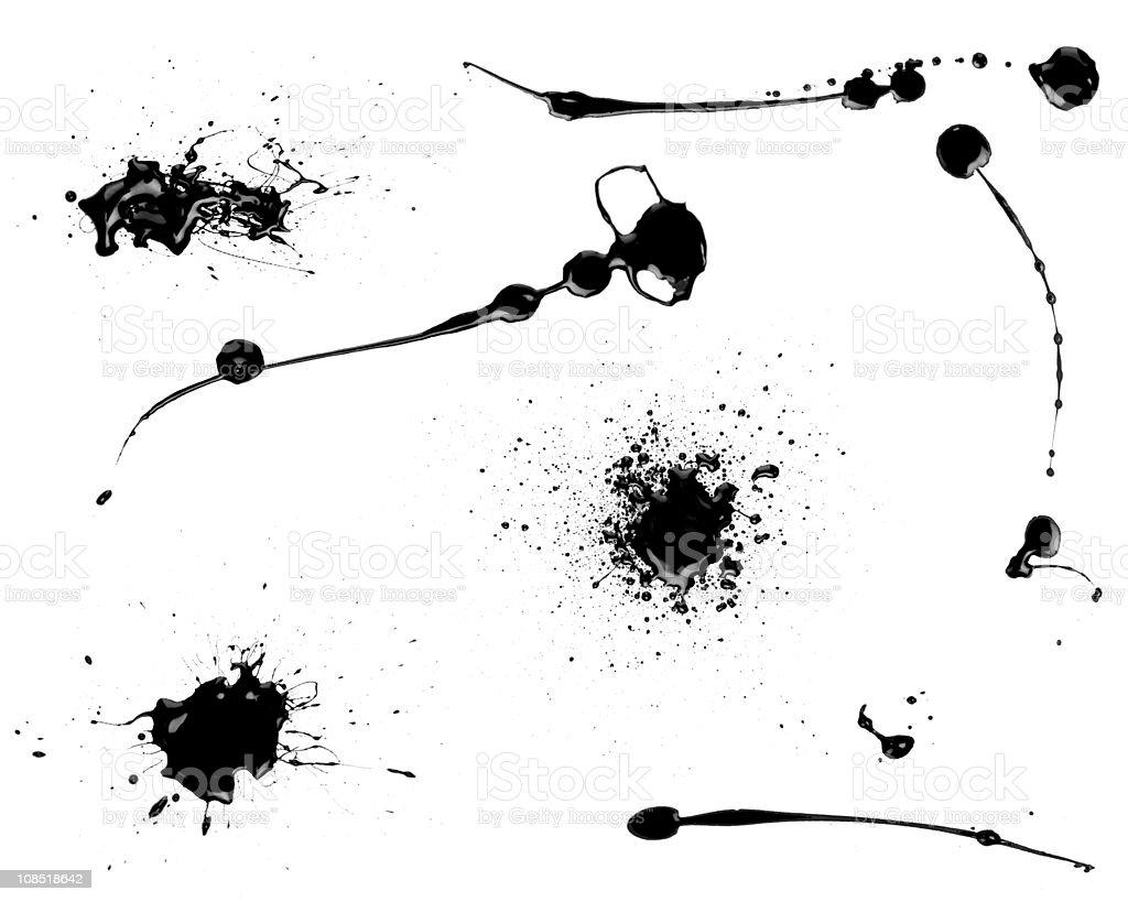 Black splatter stock photo