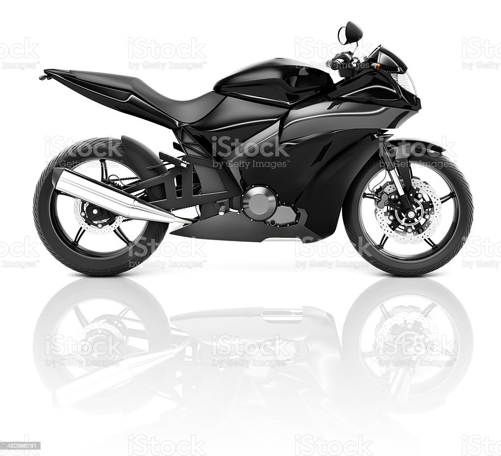 Black Sport Motorcycle stock photo