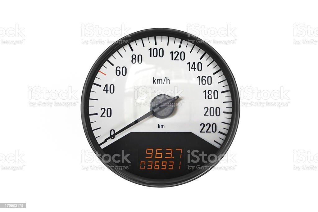 Black sport speedometer royalty-free stock photo