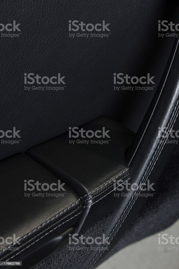 Black Sports Car Door royalty-free stock photo