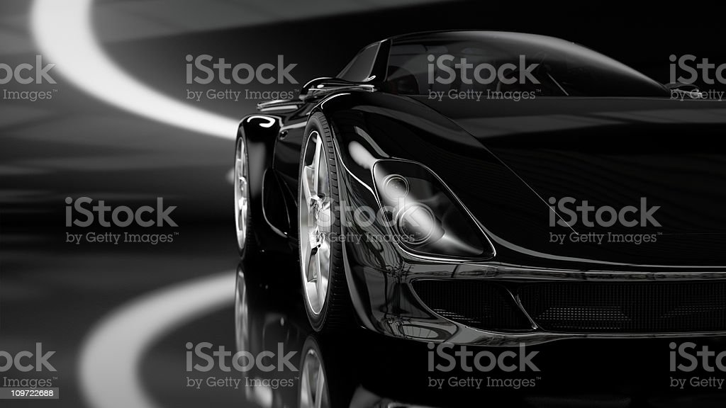 Black Sports Car stock photo
