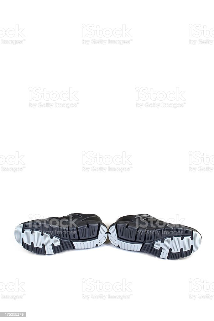 black sports shoes royalty-free stock photo
