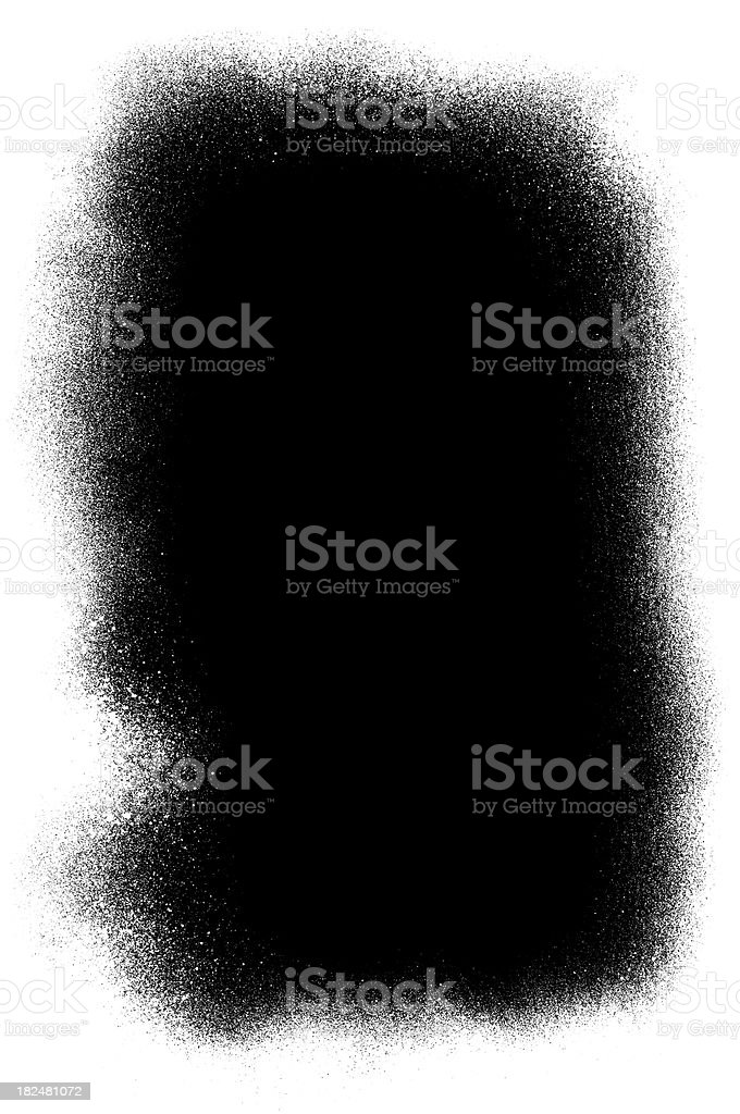 Black spray paint stock photo