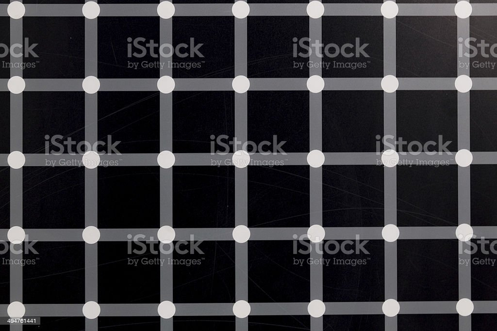 black squares and flashing dots stock photo