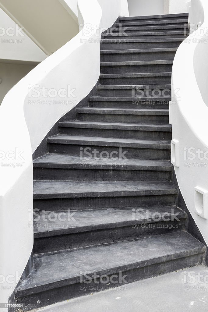 black stairs royalty-free stock photo