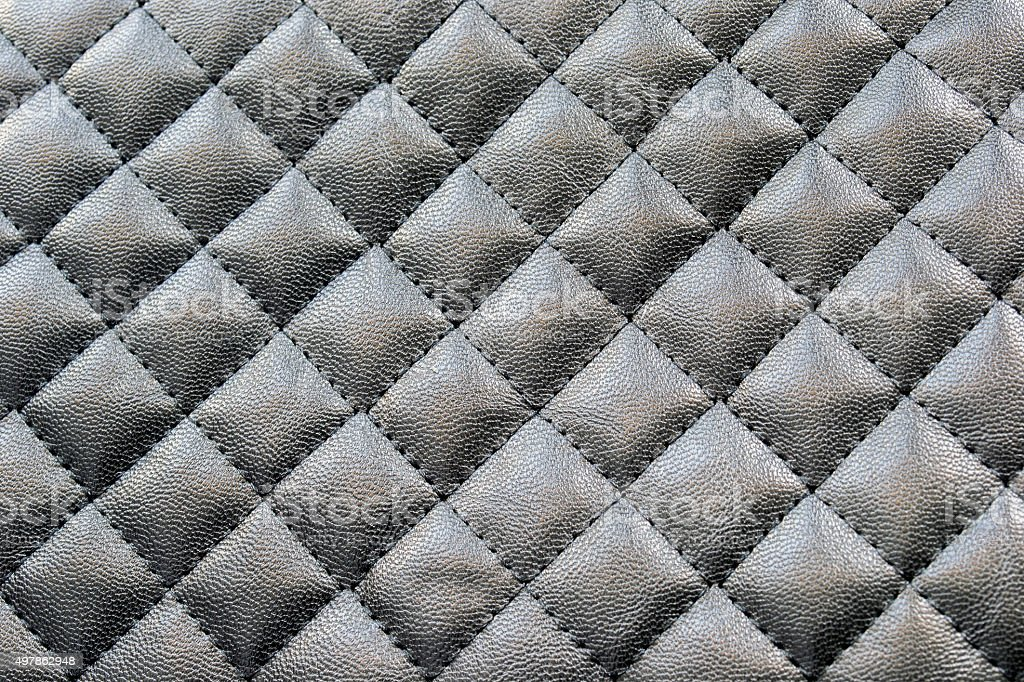 Black stitched leather stock photo