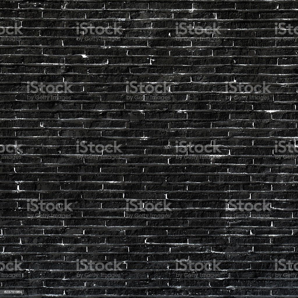 Black stone brick as wall background stock photo