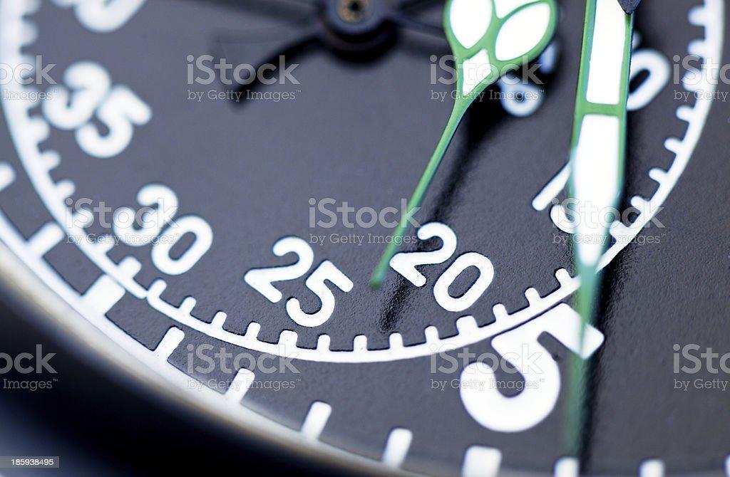 Black stopwatch close up royalty-free stock photo