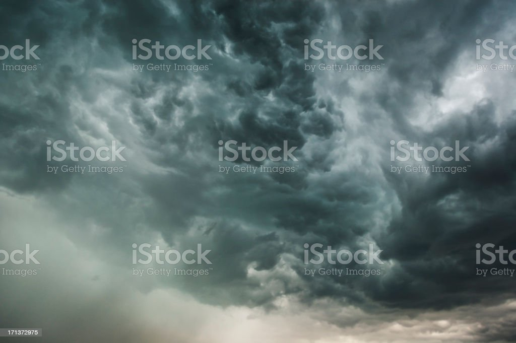 Black Stormy Clouds stock photo