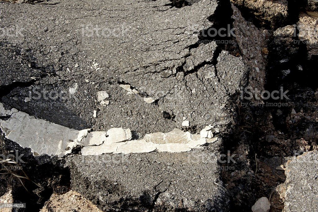 Black Street collapse. royalty-free stock photo