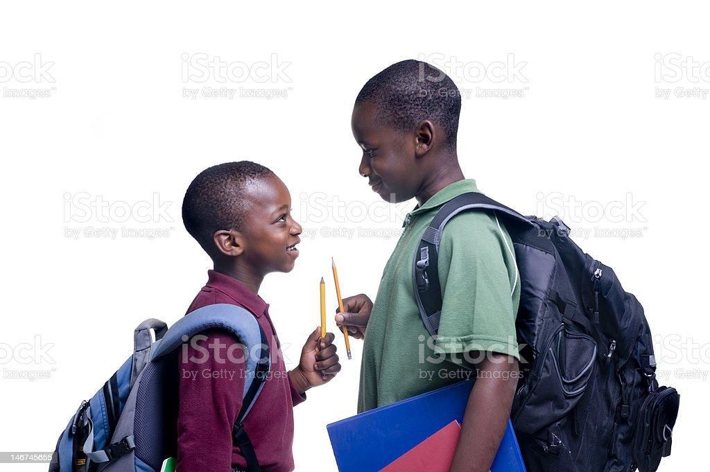 Black students royalty-free stock photo
