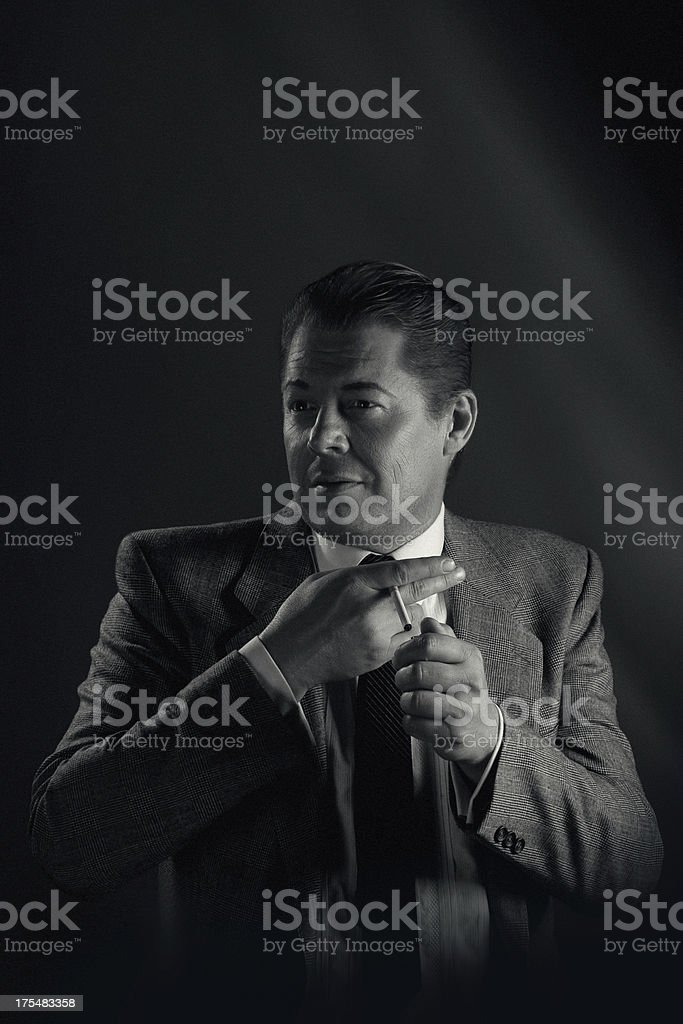Noir style.Gangster. royalty-free stock photo