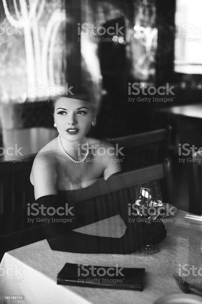 Noir Style.Waiting stock photo