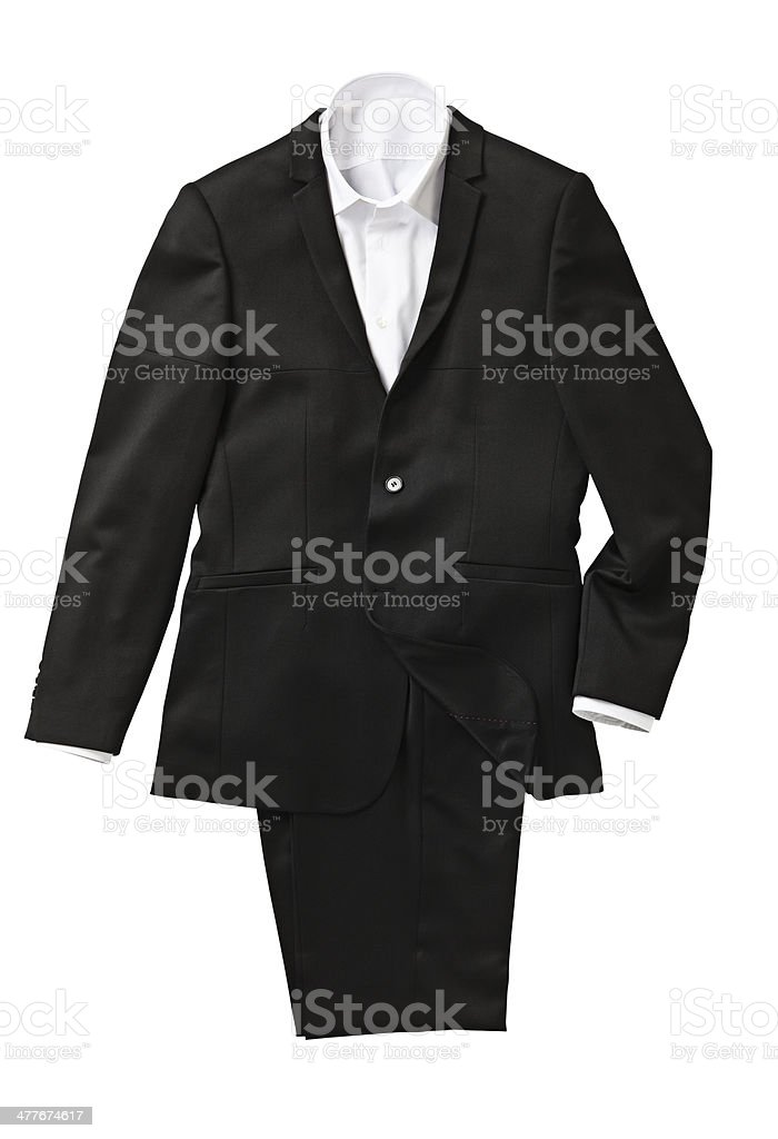 Black suit royalty-free stock photo