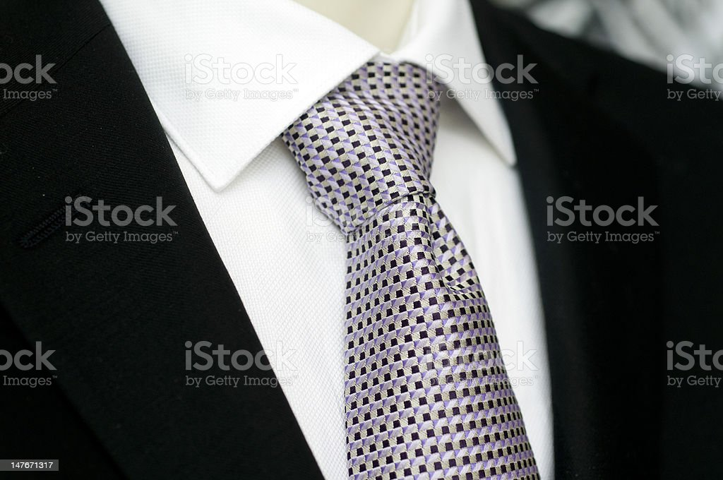 Black suit shirt and tie royalty-free stock photo