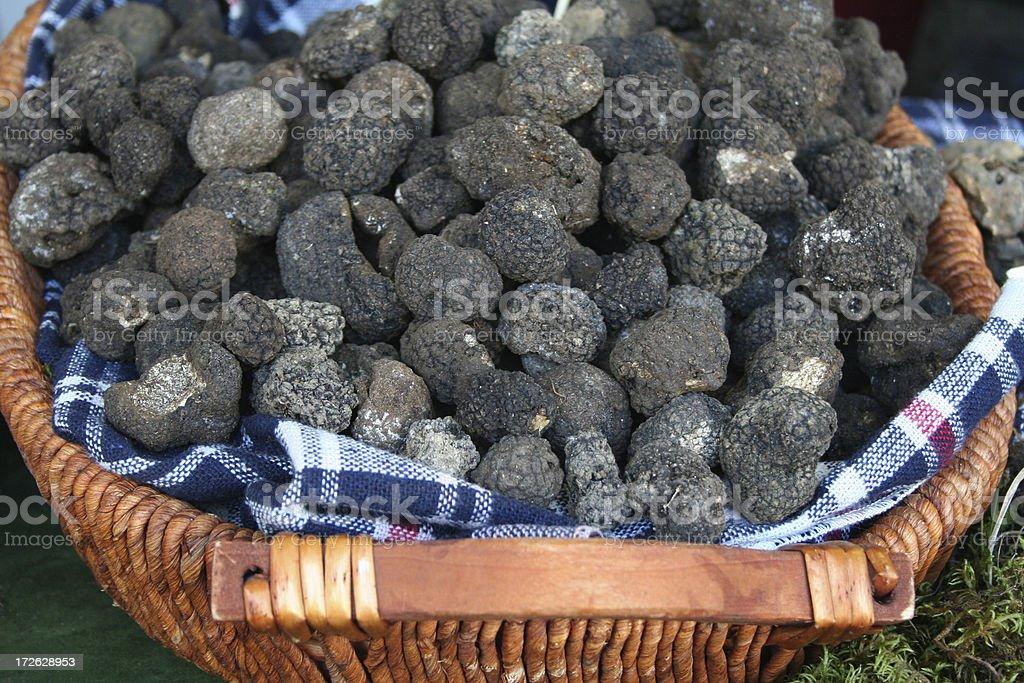 Black summer truffles royalty-free stock photo