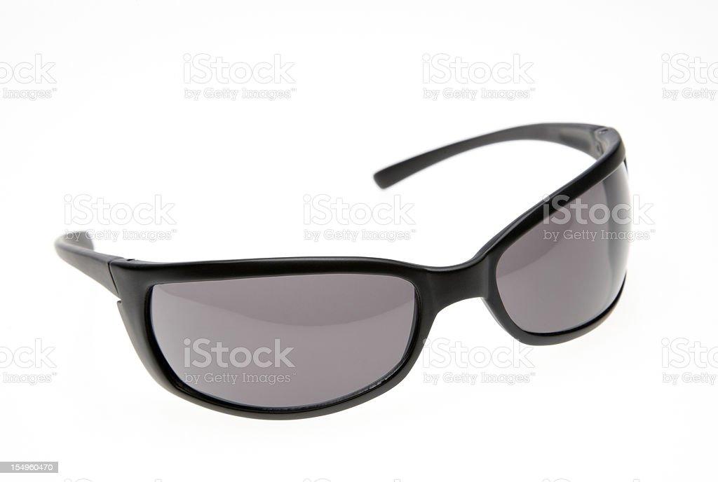 Black Sunglasses on white background royalty-free stock photo