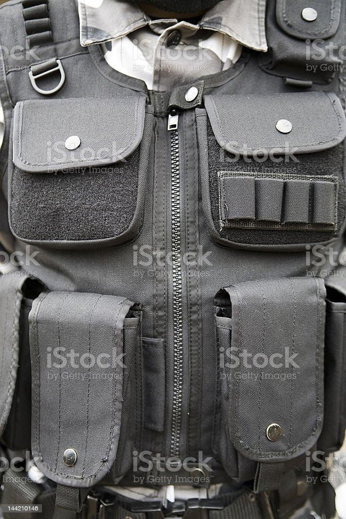 black S.W.A.T vest stock photo