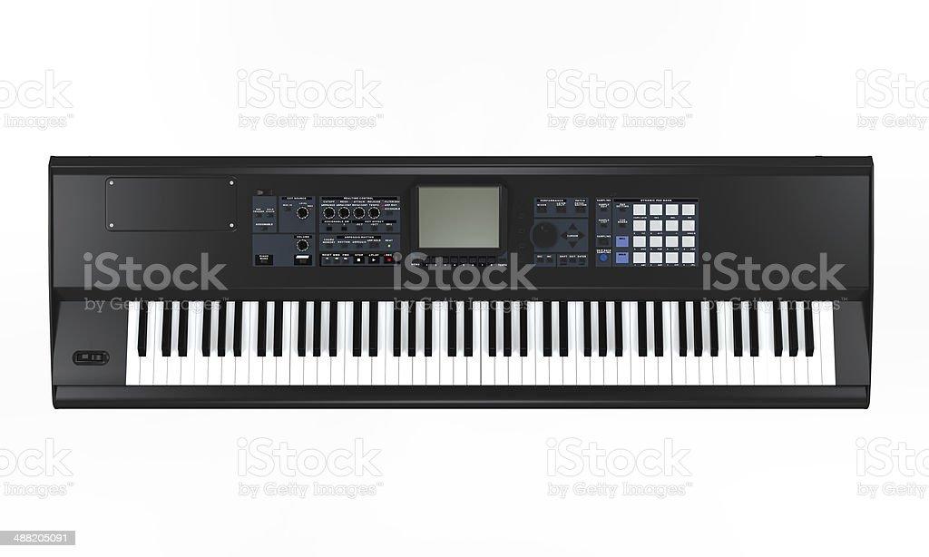 Black Synthesizer stock photo