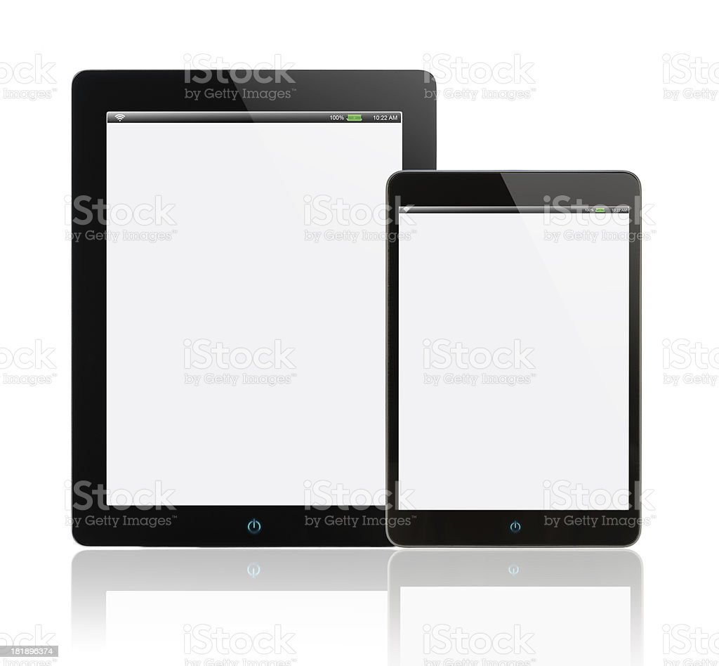 Black tablet pc royalty-free stock photo
