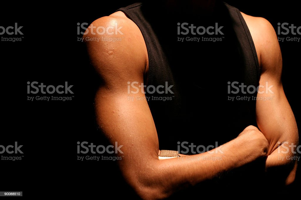 black tank top male muscles royalty-free stock photo