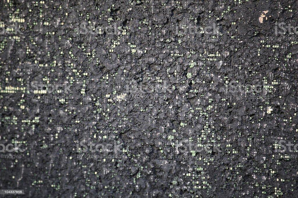ブラックタールにグリーンスポット ロイヤリティフリーストックフォト