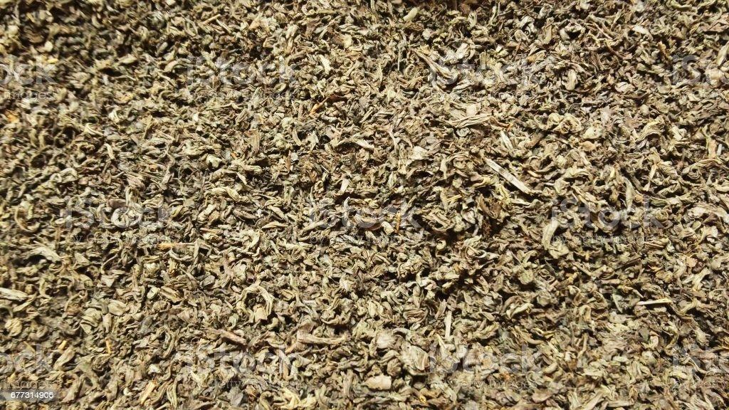 Black tea leaves stock photo