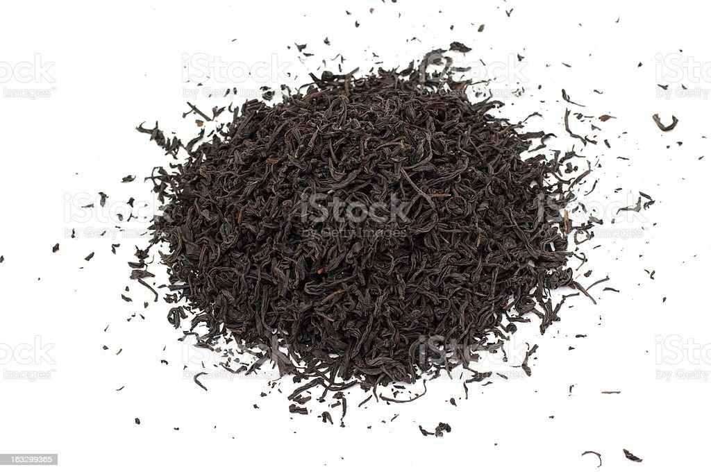 Black tea loose dried leaves royalty-free stock photo