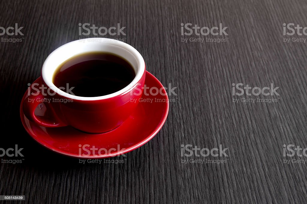 Black Tea on Table stock photo