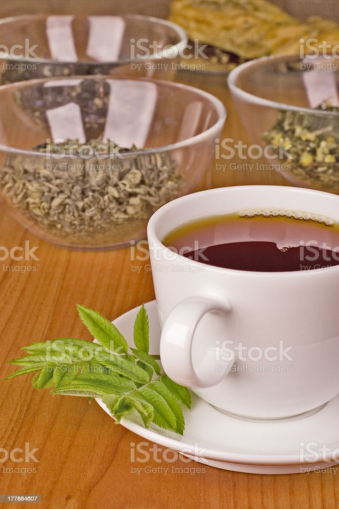 black tea with herbs royalty-free stock photo
