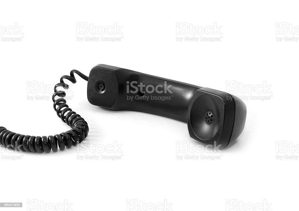 Black telephone tube royalty-free stock photo